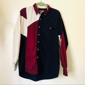 Vintage Cowboys Turtle Western Colorblock Shirt